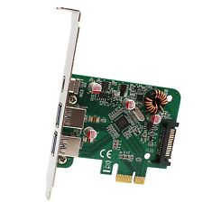 USB 3.0 Type-C Type-A PCI-Express x1 Controller Card SATA power feed VIA chipset