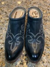 """SPIRIT by LUCCHESE """"Sandy"""" Black Bootie Mules Size 10"""