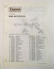 DAIWA GS-0 Mini Mite Ultra Light Spinning Reel Parts Diagram (GS-0)
