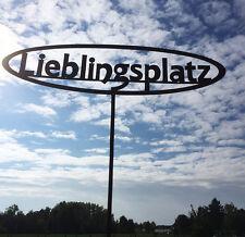 LIEBLINGSPLATZ 50 x 140cm Gartenstecker Rost Edelrost Metall Gartendekoration