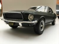NOREV 122702 FORD MUSTANG FASTBACK model car Satin green metallic 1968 1:12th