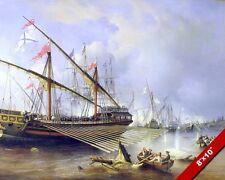 NAVAL BATTLE OF GRENGAM PAINTING SWEDISH RUSSIAN WAR ART REAL CANVASPRINT