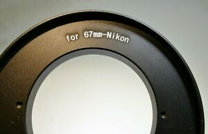 67mm to Nikon F camera mount adapter Reverse Ring for MACRO Close-up threaded