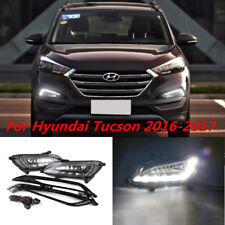 Direct Fit 2016-up HYUNDAI Tucson White LED DRL Daytime Running Lights Fog Lamp