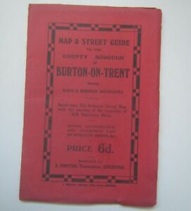 Vintage Map & Street Guide to the County Borough of Burton-on-Trent
