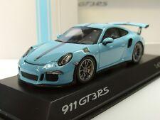 Spark Porsche 911 gt3 RS, azul verdoso-dealer model, lim. 500 - 1:43
