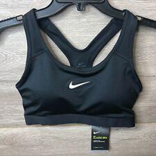 Nike Womens Size Medium Black Classic Padded Medium-Support Sports Bra NEW