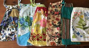 Vintage Apron Lot Of 6 Half Aprons Vera Neumann Handmade Country