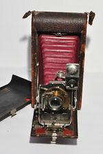 Vintg Kodak No.3A Model B-2 Folding Pocket Camera w Mahagony Rails & Red Bellows