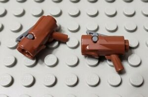 LEGO Lot of 2 Reddish Brown Shooting Minifigure Gun Weapons