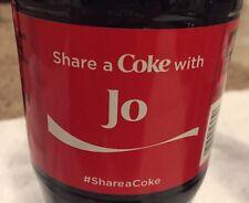 Share a COKE with Jo 20 fl oz Collectible Bottle Rare Coca-Cola 10/26/15