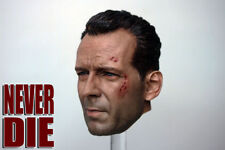 "1/6 Bruce Willis Battle Damaged Wounded Head Sculpt F 12"" Hot Toys Figure Model"