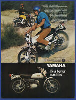 Vintage 1969 YAMAHA 125 Single Enduro AT-1 Motorcycle Bike Print Ad 1960's