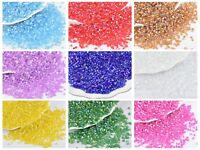 5000 Glass Tube Bugle Seed Beads 2X2mm Transparent AB Color Choice + Storage Box