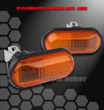 92-95 HONDA CIVIC FRONT SIDE MARKER SIGNAL LIGHTS LAMPS AMBER CX DX EX LX SI VX