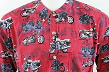 CLEARWATER OUTFITTERS BUTTON FRONT Shirt XL Mens Motorcycles Theme