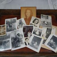 Vintage Photo Lot 14 lady girl photographs 1950s 1960s women teen