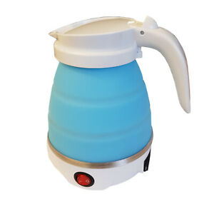 COLLAPSIBLE ELECTRIC KETTLE folding travel camping caravan boat motorhome hiking