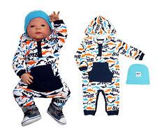 Baby Set Strampler mit Kapuze Shark NEU Baumwolle Größe 56 68