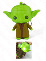STAR WARS MANDALORIAN BABY YODA KEYCHAIN WITH LED LIGHT AND SOUND KEY CHAIN RING