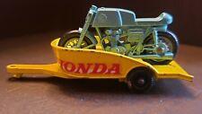 Matchbox 38 Regular Wheels Honda Motorcycle & Trailer