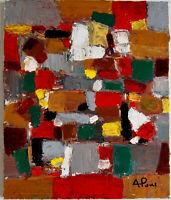 ALEXANDRE PONS/Abstrait contemporain pièce unique format 46 X 38 CM