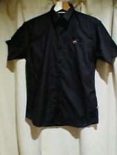 Mans Beverly Hills  Polo Club cotton slim fit short sleeved black top size Large