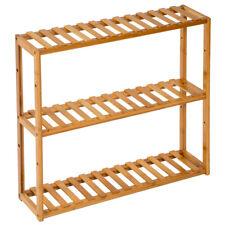 Étagère debout 3 niveaux salle de bain cuisine bois de bambou stockage rangement