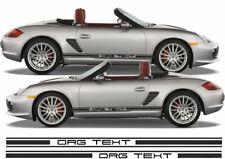 Allemand 2 rayure sur les côtés Graphics Decals Sticker Kit Race Audi VW BMW Porsche Seat