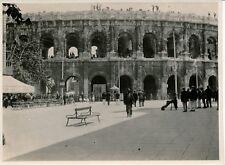 NÎMES c. 1910 - 3 Photos Les Arènes Corrida