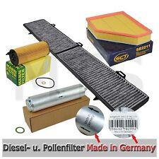 Ölfilter Luftfilter Pollenfilter Dieselfilter BMW E90 E91 318d 143PS bis 01/2010