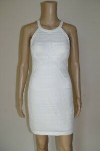 120€ GUESS sz S DRESS LINED STRETCH BODYCON COCKTAIL LACE EVENING GUIPURE PENCIL