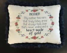 Cross Stitched Pillow, Mother