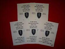 5 Vietnam War VC Propaganda Leaflets Against US 1st AVIATION BRIGADE *Unused*