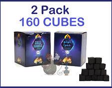 160Pcs 2.5KG Coco Hamra Natural Coconunt Hookah Charcoal Large 26MM Cube*2Pack*