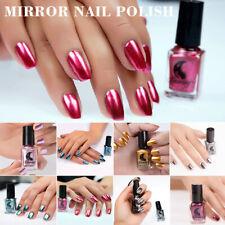 Rose Gold Nail Polish Mirror Metallic Chrome Effect Shine Nails Art Varnish 6ml