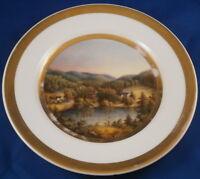 Antique 19thC Gotha Porcelain Wilhelmsthal Scenic Plate Porzellan Teller Scene