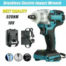 12 520nm Brushless Cordless Electric Impact Wrench Gun Drill Driver Battery