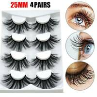 4 Pairs Fluffy 3D Soft Mink Hair False Eyelashes Natural Long Eye Lash Extension
