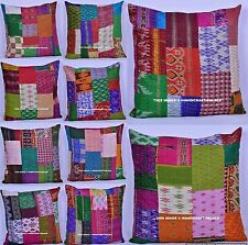 100 PC Wholesale Lot Pillow Case Silk Patchwork Throw Decorative Cushion Cover
