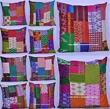 100 PC Wholesale Lot Pillow Case Silk Patchwork Throw Decorative Cushion Cover