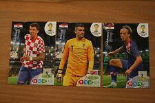 3 Karten Kroatien Hrvatska Panini Adrenalyn 2014 FIFA World Cup Brasil