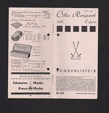 ERFURT, Preisliste Nr. 152 1938, Otto Reipert Gummi-Waren Haushalt-Eisen-Waren