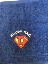Dad Face Cloth Flannel Fathers Day Birthday Gift Blue 100% Cotton Lovely Present