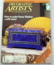 DECORATIVE ARTIST'S WORKBOOK Oct 1989 Tole painting patterns instructions