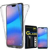 "Coque Silicone Gel 360° protection Huawei P20 Lite/ Nova 3e 5.84"" + Film Verre"