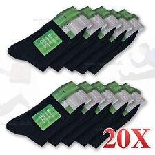 CLEARANCE 20 Bamboo Socks Fibre Men Black Odor Resistant Healthy Natural Warm AU