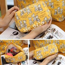 New Beauty Women Yellow Bear Travel Toiletry Case Cosmetic Bag Makeup Pouch-7