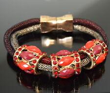 Luxus Armband Kranz Paris Magnetschließe Shamballa Wickelarmband Netzarmband