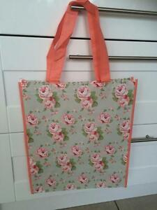 PRETTY SHABBY VINTAGE STYLE CHIC MILLIE BY JENNIFER ROSE FLORAL SHOPPING BAG